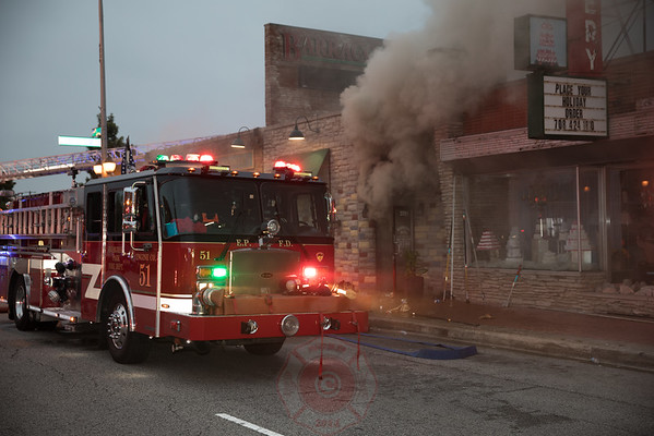 Evergreen Park 2nd Alarm 3701 W. 95th Street Barraco's Pizza September  24, 2016