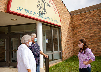 Finkenauer Visits Derecho Damage at Meskwaki Nation