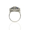 1.88ctw Art Deco style Saphhire and Diamond Dinner Ring 3