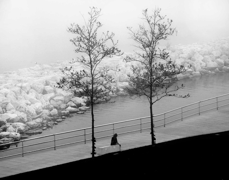 Woman on bench in b w  fog sol best .jpg