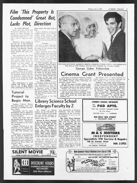 Summer Trojan, Vol. 17, No. 4, July 01, 1966