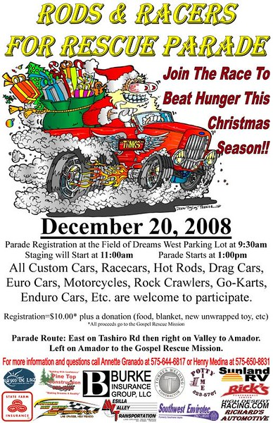 2008 Rods & Racers for Rescue Parade - 12/20/2008