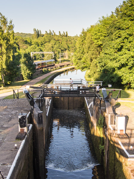 Kirkstall Forge Locks on the Leeds and Liverpool Canal