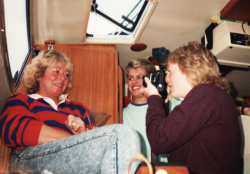 Denise having her picture taken by Claire