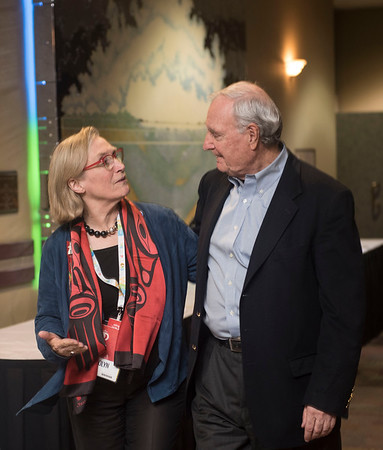 DAVID LIPNOWSKI / WINNIPEG FREE PRESS  21st Prime Minister of Canada, Paul Martin walks with Indigenous and Northern Affairs Minister Carolyn Bennett during the opening of the 2016 Liberal Biennial Convention at RBC Convention Centre Thursday May 25, 2016.