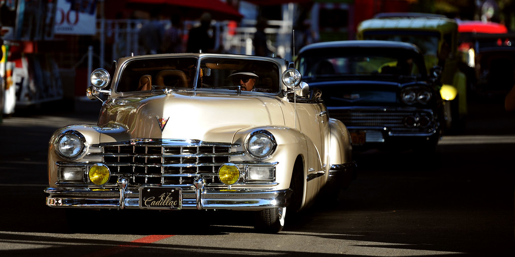 . A 1947 Cadillac during the Diamond Bar community parade during the 91st Annual L.A. County Fair in Pomona, Calif. on Thursday, Sept. 5, 2013.   (Photo by Keith Birmingham/Pasadena Star-News)
