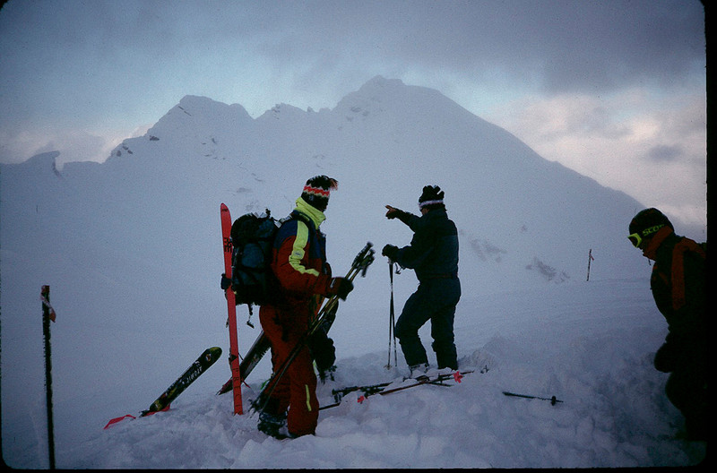 Selkirk Mtns. with guide Sylvain