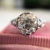 2.23ct Old European Cut Diamond Edwardian Solitaire GIA I VS1 14