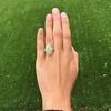 5.01ct Art Deco Opal and Diamond Ring 9