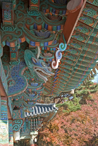 Row of ornamental dragons at Gulguksa Temple - Gyeongju, South Korea