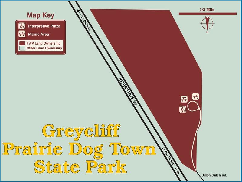 Greycliff Prairie Dog Town State Park