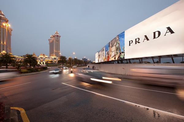 EC ad Macau Prada Billboard near Galaxy Resort