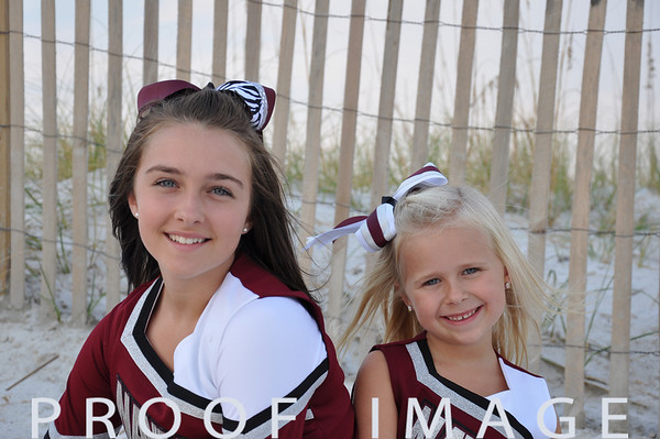 Lily and Emma - Navarre Beach Portraits 9-14-11