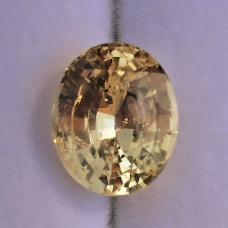 9.44ct Oval Yellow Sapphire, with GIA No-Heat