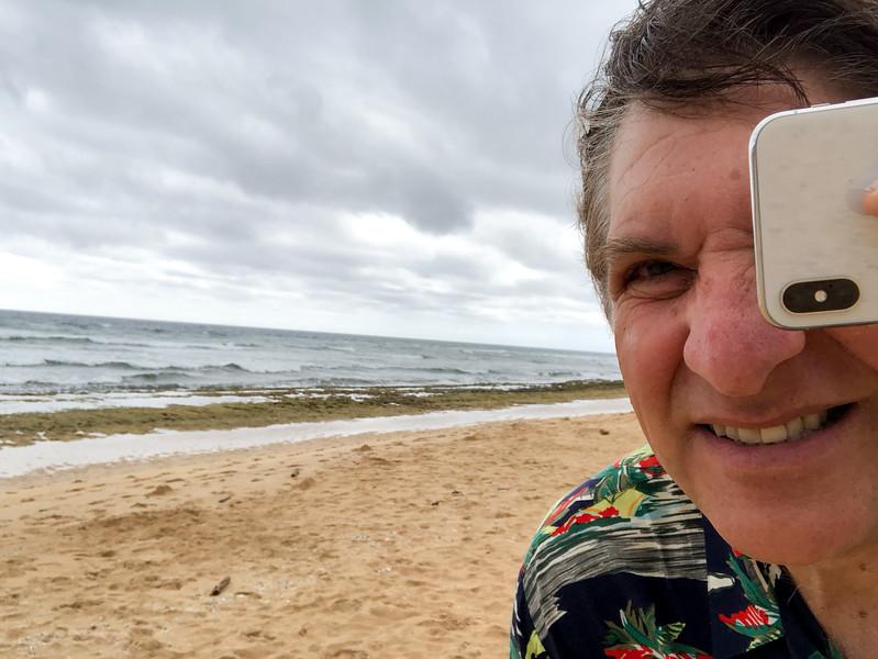 A self-portrait on Poipu Beach