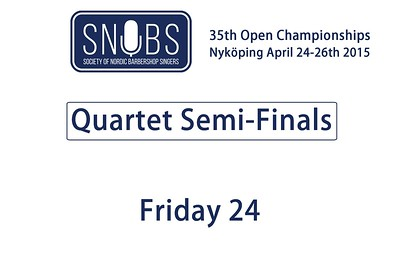 2015-0424 SNOBS -Quartet Semi-finals