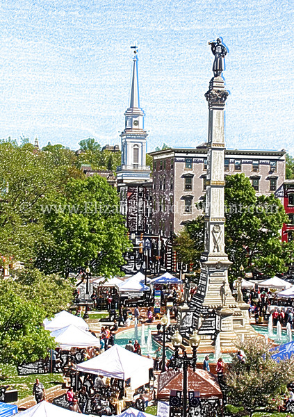 Easton Farmers' Market, Centre Square in Spring, Easton, PA