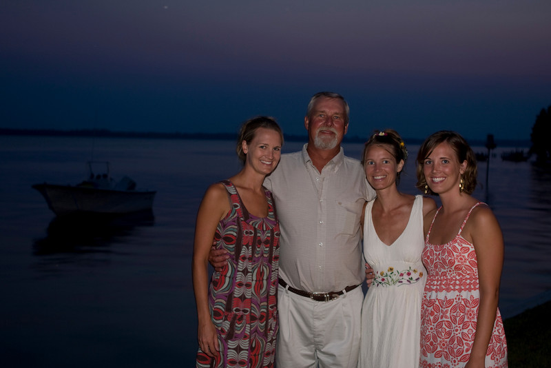 Mandy, Dad and two sisters