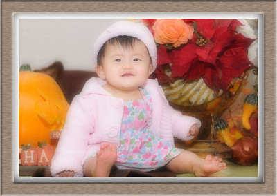 Haylie and Kayla at Thanksgiving (9 months)