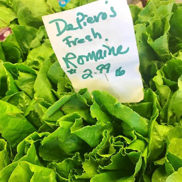 lettuce from DePiero's Farm Market