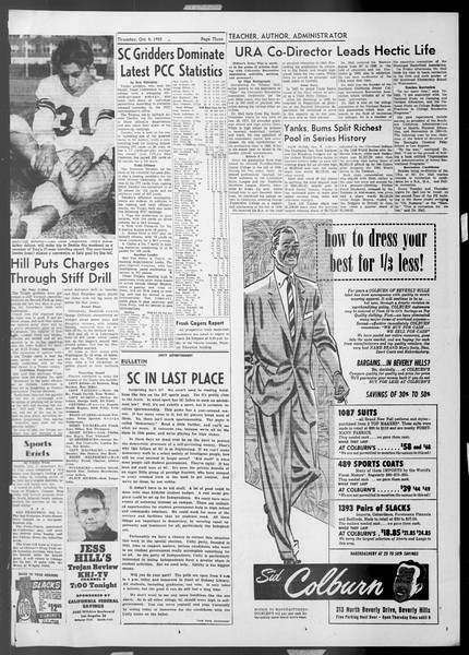 Daily Trojan, Vol. 45, No. 14, October 08, 1953