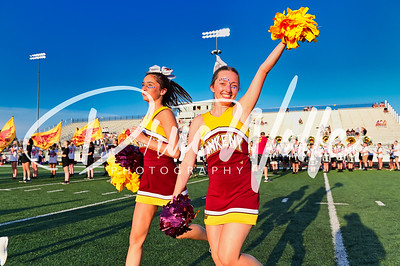 Ankeny Hawks Student Section Cheer Marching Band Dance!  08272021
