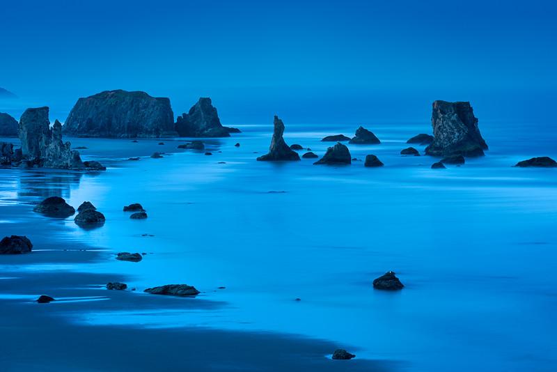 Blue Hour at Bandon Beach