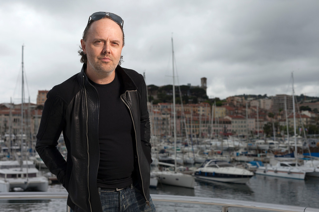 . Lars Ulrich of Metallica poses for portraits at the 66th international film festival, in Cannes, southern France, Thursday, May 16, 2013. Ulrich is promoting the film Metallica Through The Never, directed by Nimrod Antal. (AP Photo/Laurent Emmanuel)