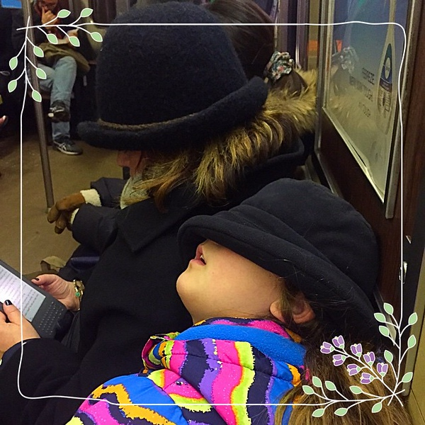 It might be the city that never sleeps … but 15 minutes on the subway for Kayla makes for a nice cat nap. At least until the subway car performers wake you up.