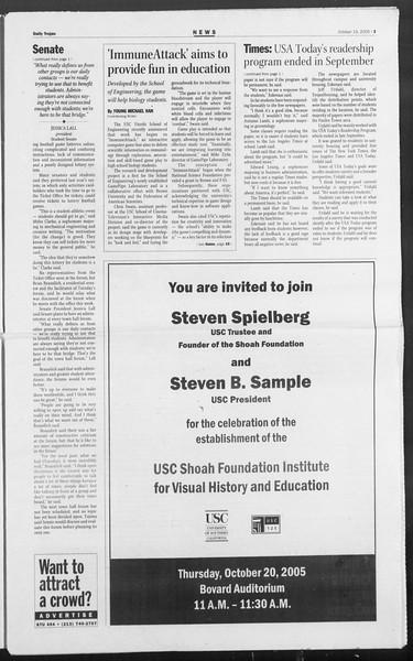 Daily Trojan, Vol. 156, No. 41, October 19, 2005