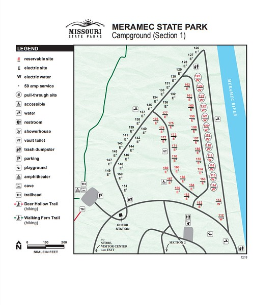 Meramec State Park (Campground Section #1)