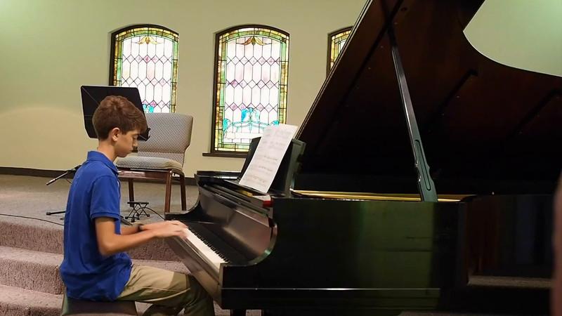 Kevin Piano Recital 2016
