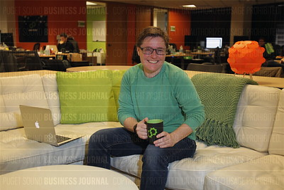 Usermind CEO Michel Feaster is pictured in her company's headquarters in Seattle, Wash.