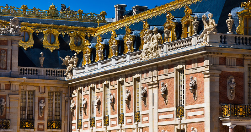 Gold touches on the Palace of the Kings, Versailles, France