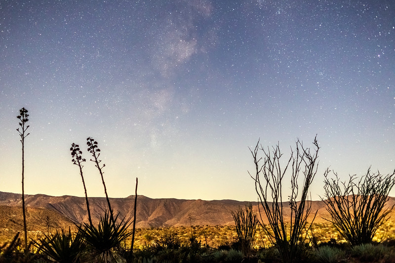 Milky Way With Moonlit Foreground In the Anza-Borrego Desert 1