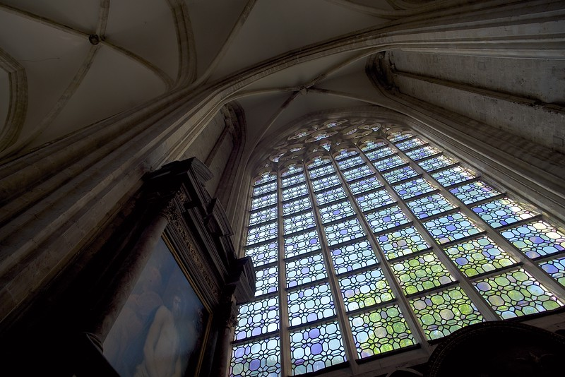 Window in the Sint Pieterskirche in Leuven