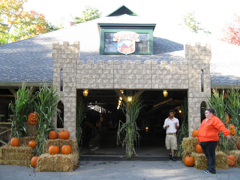 The Jackpot Casino building had been converted into the Pumpkin Palace attraction for little kids.