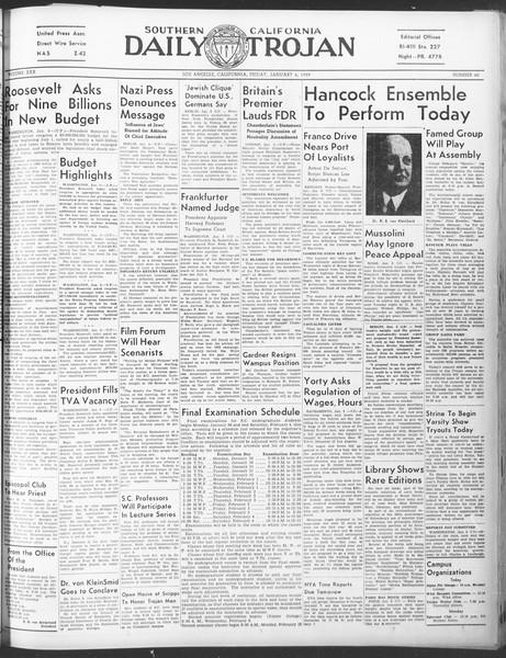Daily Trojan, Vol. 30, No. 61, January 06, 1939