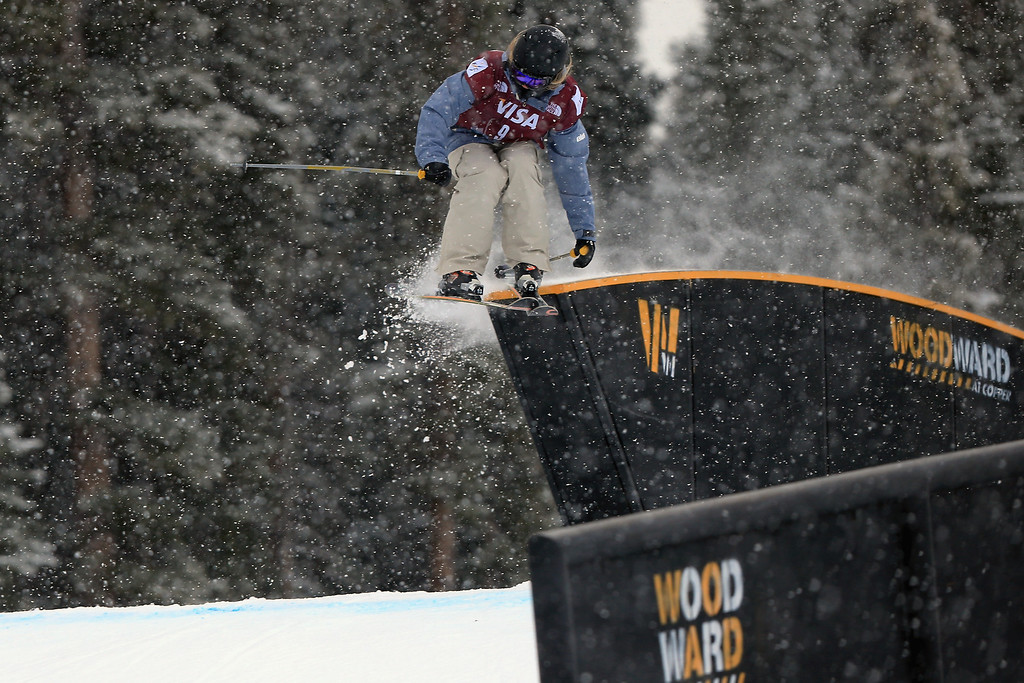 . Nikki Blackall of Canada in action during qualifying for the women\'s FIS Slopestyle Ski World Cup at the U.S. Snowboarding and Freeskiing Grand Prix on December 20, 2013 in Copper Mountain, Colorado.  (Photo by Doug Pensinger/Getty Images)