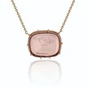 'INV My Letter' Pale Pink Glass Rebus Pendant, by Seal & Scribe 0