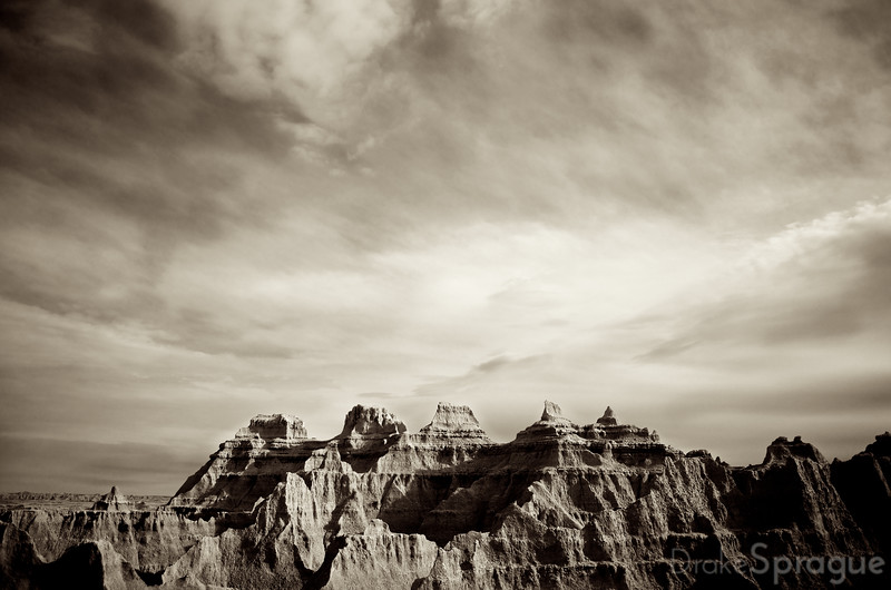 Barren Mountain Ridge - Badlands, South Dakota, USA