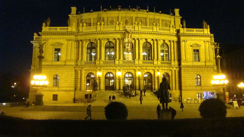 Our conference was in Charles University, opposite the Rudolfinum Concert Hall here.