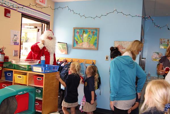 Kindergarten Holiday Party-- Santa's Visit