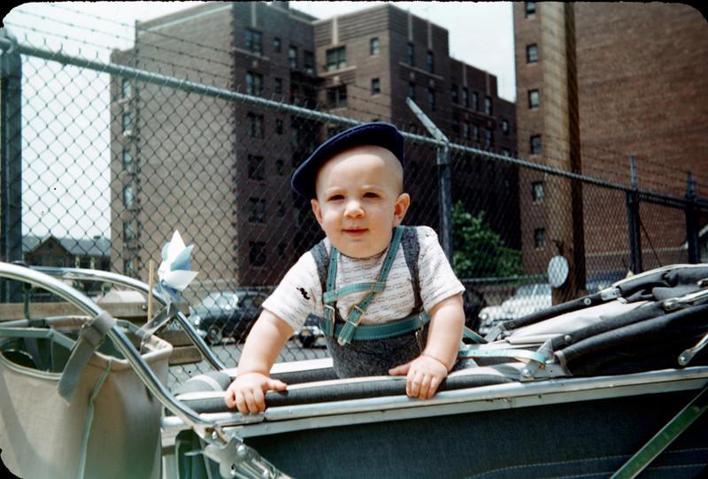 baby richard in pram on benches 1955 3_.jpg