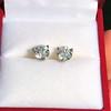1.85ctw Old European Cut Diamond Stud Earrings 7