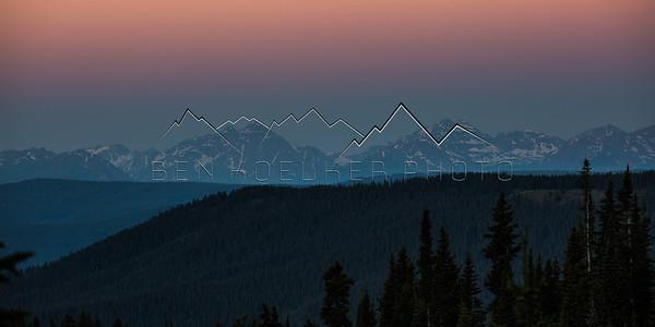 Alpenglow over the Elk Range, CO at Sunrise