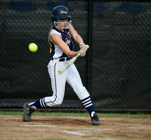 7/24/2019 Mike Orazzi   Staff Connecticut's Avery Falco (27) during Wednesday's Little League softball game with New Jersey at Breen Field in Bristol.