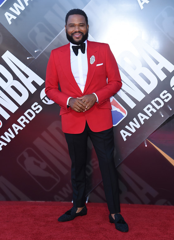 . Anthony Anderson arrives at the NBA Awards on Monday, June 25, 2018, at the Barker Hangar in Santa Monica, Calif. (Photo by Richard Shotwell/Invision/AP)