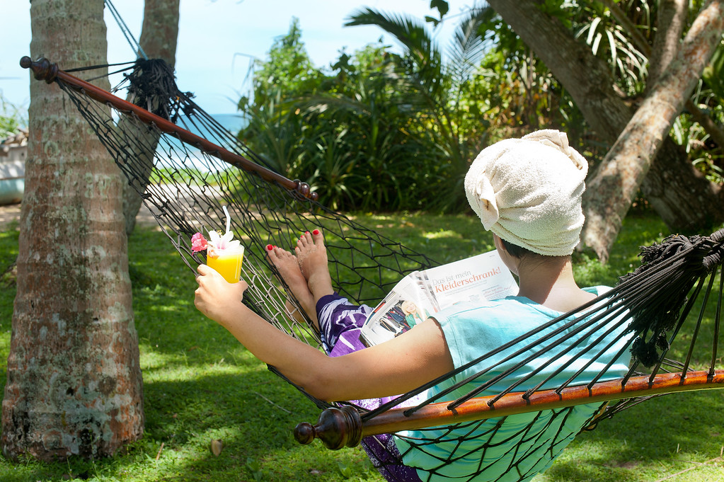Hammocks and relaxation at Surya Lanka Retreat