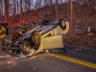 1-19-06 MVA Rollover, Sprout Brook Road